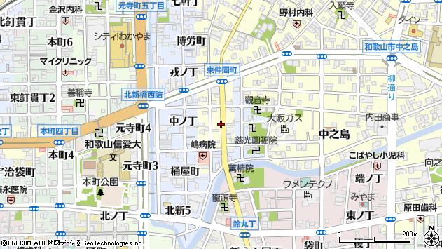 〒640-8013 和歌山県和歌山市東仲間町の地図