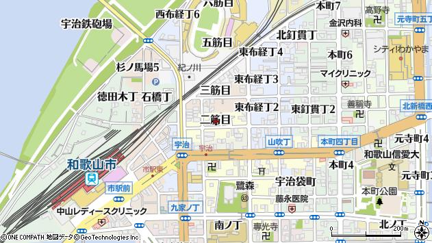 〒640-8068 和歌山県和歌山市二筋目の地図