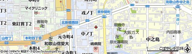 和歌山県和歌山市西仲間町周辺の地図