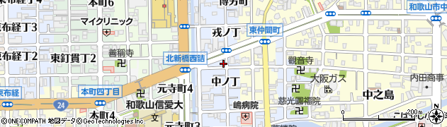 和歌山県和歌山市北新周辺の地図