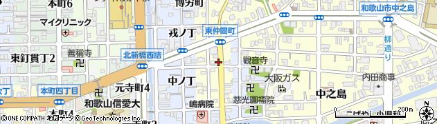 和歌山県和歌山市東仲間町周辺の地図