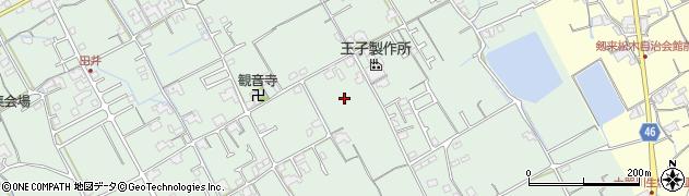 香川県丸亀市垂水町田井周辺の地図