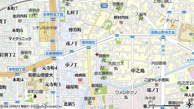 〒640-8011 和歌山県和歌山市北新元金屋丁の地図
