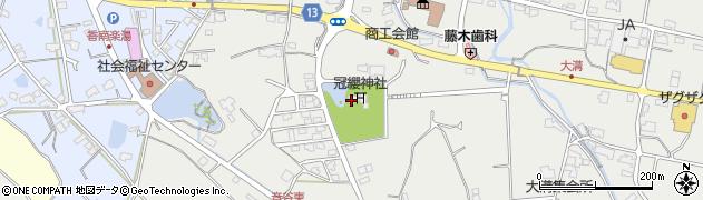冠纓神社周辺の地図