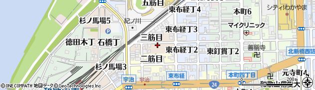 和歌山県和歌山市三筋目周辺の地図