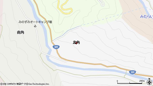 〒638-0303 奈良県吉野郡天川村北角の地図