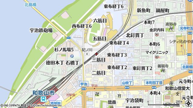 〒640-8060 和歌山県和歌山市四筋目の地図