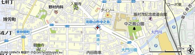 和歌山県和歌山市中之島周辺の地図