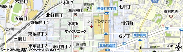 和歌山県和歌山市元寺町周辺の地図
