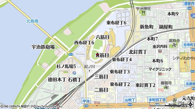 〒640-8076 和歌山県和歌山市五筋目の地図