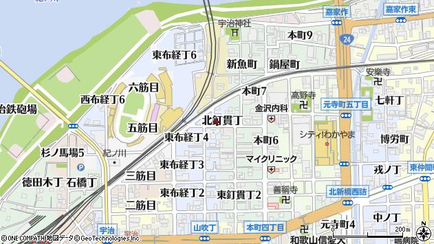 〒640-8062 和歌山県和歌山市北釘貫丁の地図