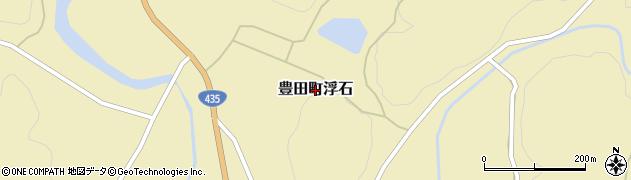 山口県下関市豊田町大字浮石周辺の地図