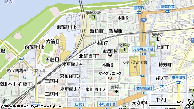 〒640-8061 和歌山県和歌山市畳屋町の地図