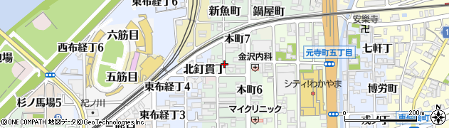 和歌山県和歌山市畳屋町周辺の地図