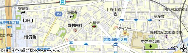 入願寺周辺の地図
