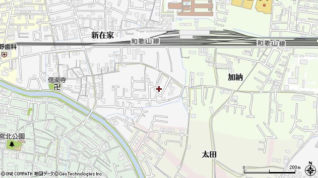 〒640-8345 和歌山県和歌山市新在家の地図
