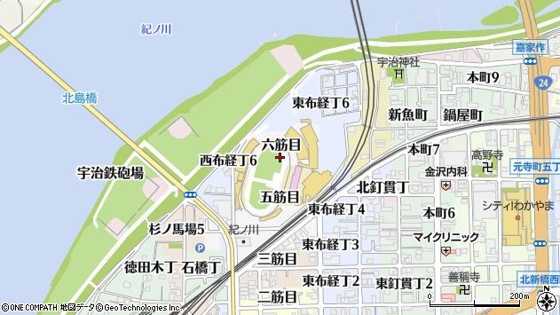 〒640-8077 和歌山県和歌山市六筋目の地図