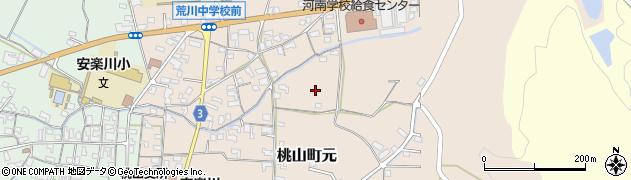 和歌山県紀の川市桃山町元周辺の地図