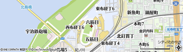 和歌山県和歌山市六筋目周辺の地図