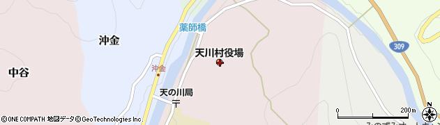 奈良県吉野郡天川村周辺の地図
