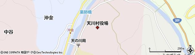 奈良県天川村(吉野郡)周辺の地図