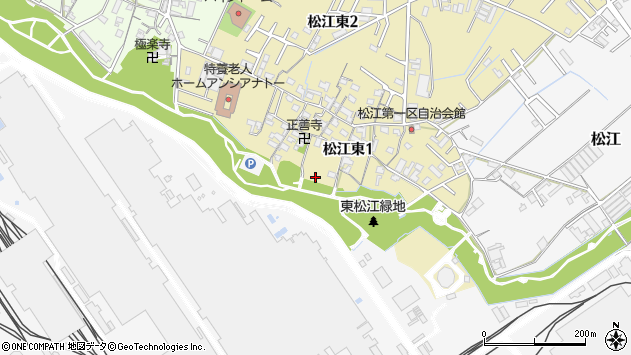 〒640-8422 和歌山県和歌山市松江東の地図