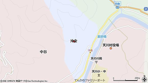 〒638-0311 奈良県吉野郡天川村沖金の地図