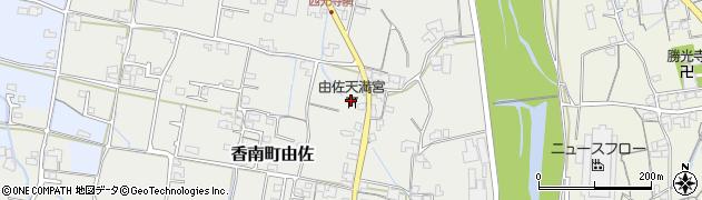由佐天満宮周辺の地図