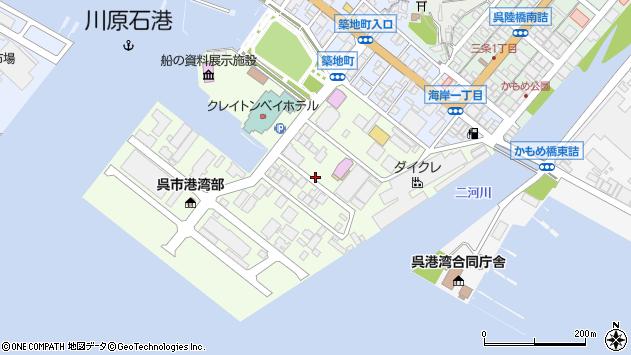〒737-0822 広島県呉市築地町の地図