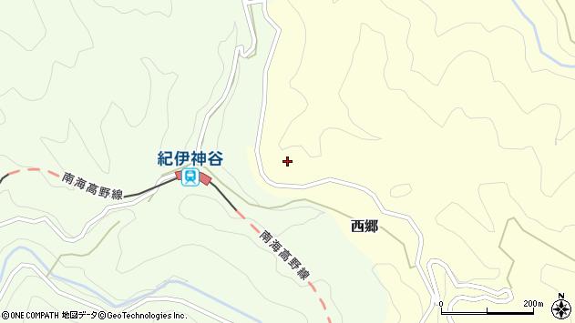 〒648-0261 和歌山県伊都郡高野町西郷神谷の地図