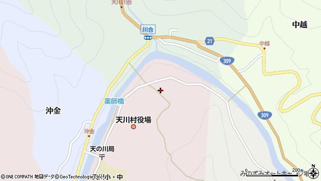 〒638-0305 奈良県吉野郡天川村沢谷の地図
