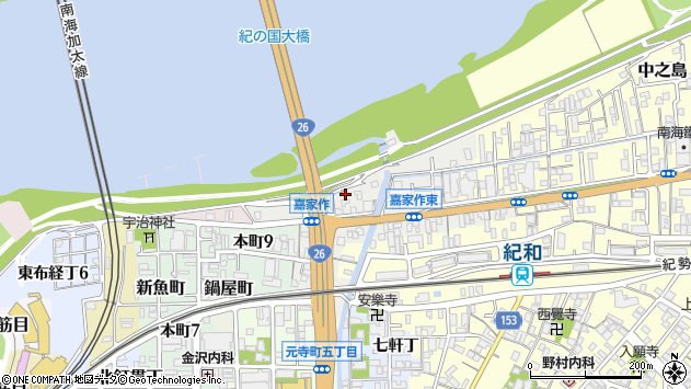 〒640-8071 和歌山県和歌山市宇治薮下の地図
