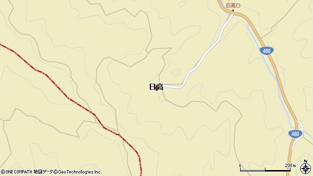 〒649-7145 和歌山県伊都郡かつらぎ町日高の地図