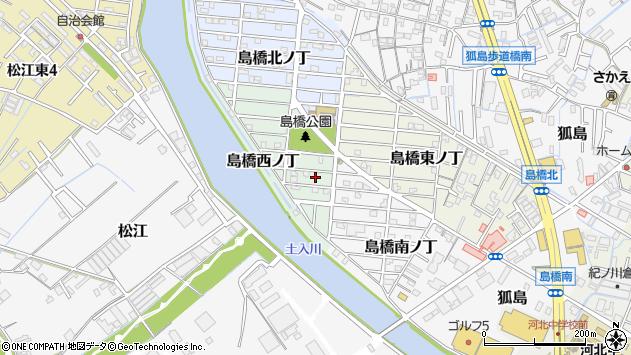 〒640-8414 和歌山県和歌山市島橋西ノ丁の地図