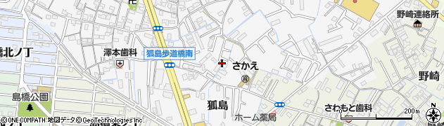 和歌山県和歌山市狐島周辺の地図