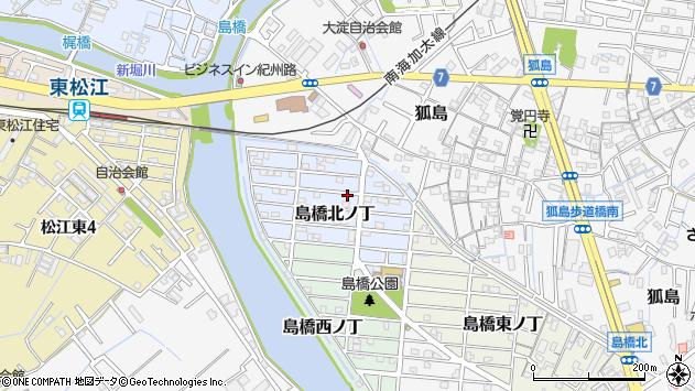 〒640-8416 和歌山県和歌山市島橋北ノ丁の地図