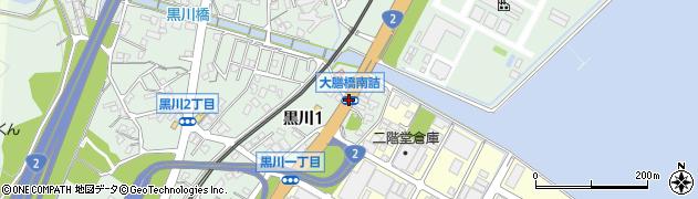 大膳橋南詰周辺の地図