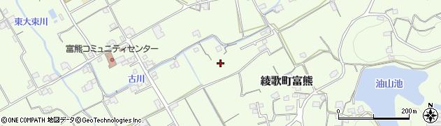香川県丸亀市綾歌町富熊水掛東周辺の地図