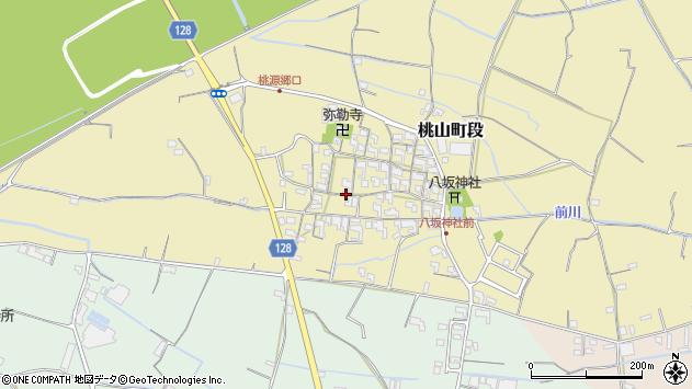 〒649-6125 和歌山県紀の川市桃山町段の地図