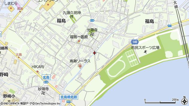 〒640-8401 和歌山県和歌山市福島の地図
