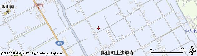 香川県丸亀市飯山町上法軍寺サンタウン讃岐富士周辺の地図