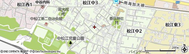 和歌山県和歌山市松江中周辺の地図