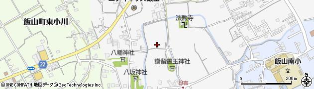 香川県丸亀市飯山町下法軍寺西尾周辺の地図