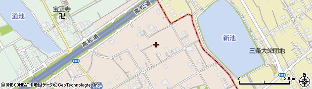 香川県善通寺市木徳町鴨井周辺の地図