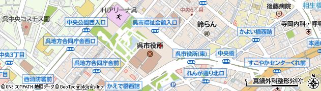 広島県呉市周辺の地図