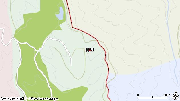 〒649-7143 和歌山県伊都郡かつらぎ町神田の地図