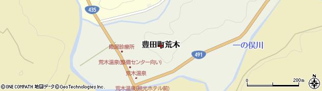山口県下関市豊田町大字荒木周辺の地図