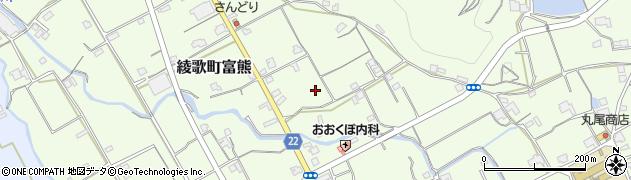 香川県丸亀市綾歌町富熊本村南周辺の地図