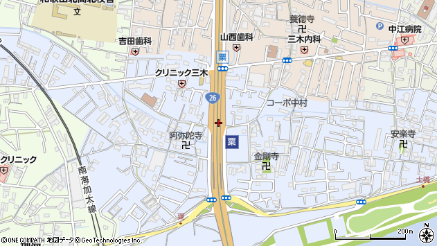 〒640-8462 和歌山県和歌山市粟の地図