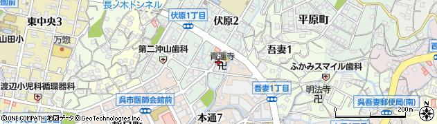 青蓮寺周辺の地図